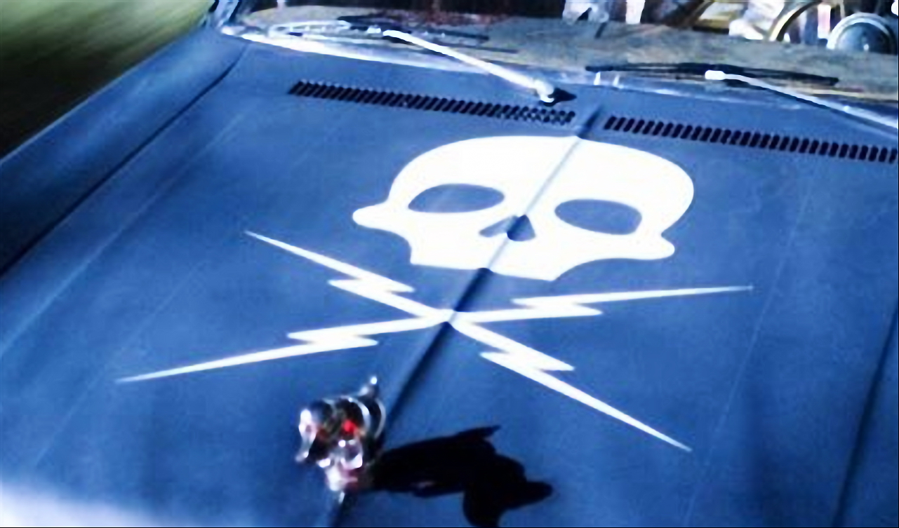 Death Proof Skull Decal